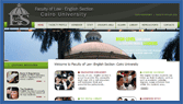 Faculty of Law :English Section :Cairo University :Egypt :ZANS Pro Web Solution: Website Design & Development in Egypt